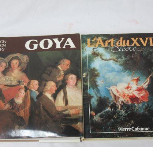 """Lot de 2 livres d'art comprenant """"L'art du XVIIIe siècle"""", et """"Goya"""". Si vous ne…"""