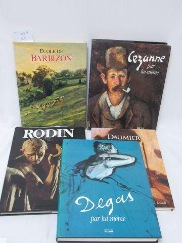 Lot de livres d'Art : Ecole de Barbizon, Rodin, Cézanne, Daumier, Degas Si vous …