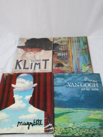 """Lot de livres d'art comprenant """"Klimt"""", """"Van Gogh"""", """"Magritte""""… Si vous ne pouve…"""