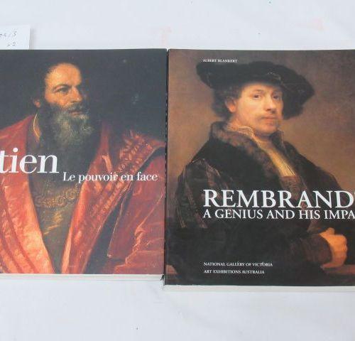 """Lot de deux livres d'art dont """"Titien le pouvoir en face"""", et """"Rembrant"""" (en ang…"""