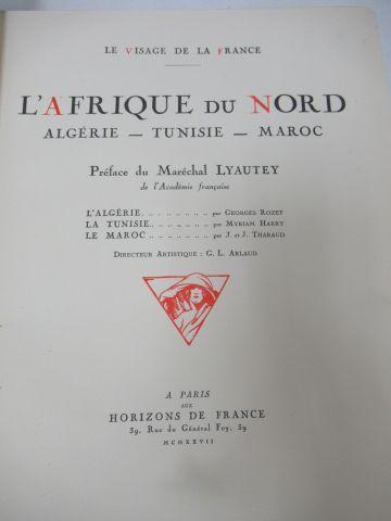 """""""Le Visage de la France """"L'Afrique du Nord"""" Paris, horizons de France, 1927. Si …"""