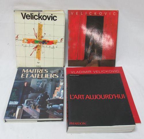 "Lot de livres d'art comprenant ""Venickovic"", ""L'art d'aujourd'hui"", et ""Maîtres …"