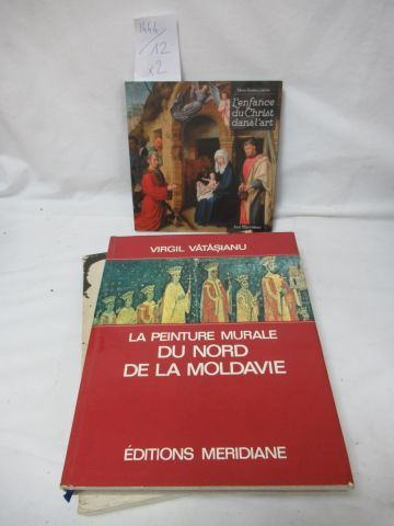 """Lot of 2 Art books: """"The Childhood of Christ in Art"""" and """"The Mural Painting of …"""