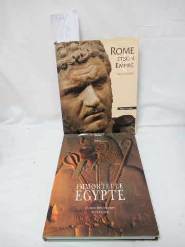 """Set of 2 books : """"Rome and its Empire"""" """"Immortal Egypt"""