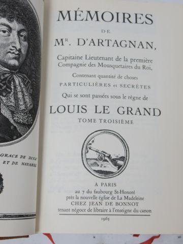 """D'ARTAGNAN """"Memoirs"""" Jean de BONNOT, 1965 (slight wear to the binding)"""