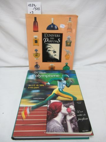 Lot of 2 books : The Universe of perfumes a Century of Olympism.