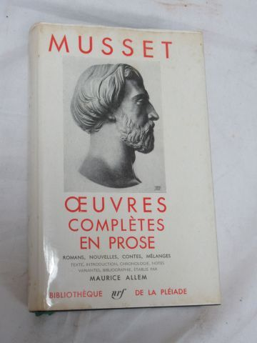 "LA PLEIADE, Musset ""Complete works in prose"" 1960"