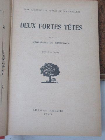 "Set of 3 books :   Magdeleine du Genestoux ""Two strong heads"" Hachette. Illustra…"