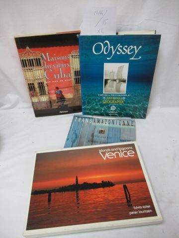 Lot of books on travel.