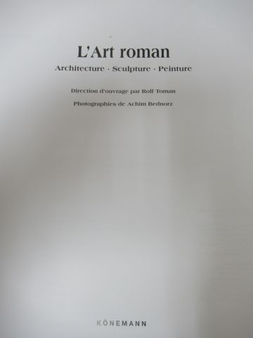 Lot of 3 Art books: Romanesque Art, Louvre Museum, Doisneau.