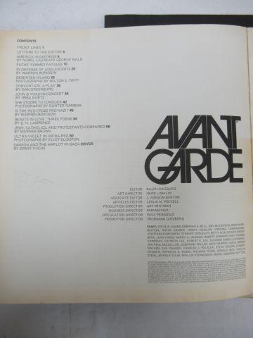 "Lot of 5 copies of the ""Avant garde"" magazine"