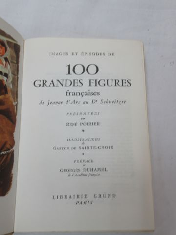 """René POIRIER """"Images and episodes of 100 great French figures"""" Gründ"""