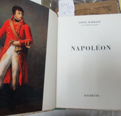 """Lot of five books on Napoleon :   """"En campagne avec Napoléon"""", Flammarion   Pass…"""