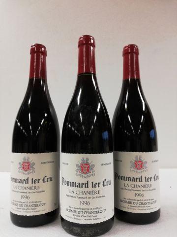 3 bottles of Pommard 1er cru. 1996. La Chaniere. Noémie du Chanteloup