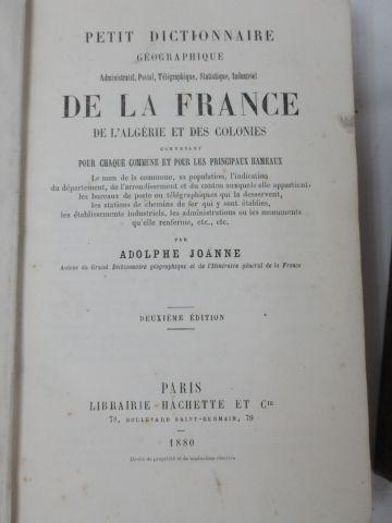 """Lot including """"Le Petit Dictionnaire géographique de la France"""" by Adolphe Joann…"""