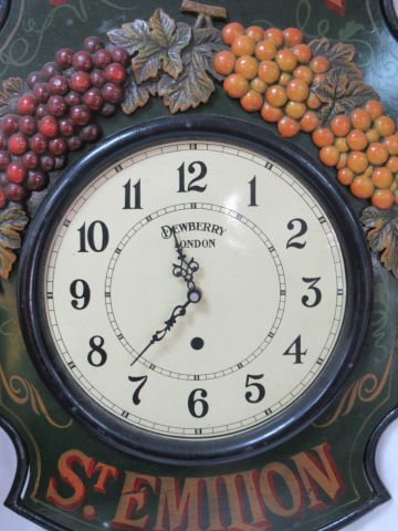 Wall clock in painted wood and black lacquered metal decorated with vines. 73 X …