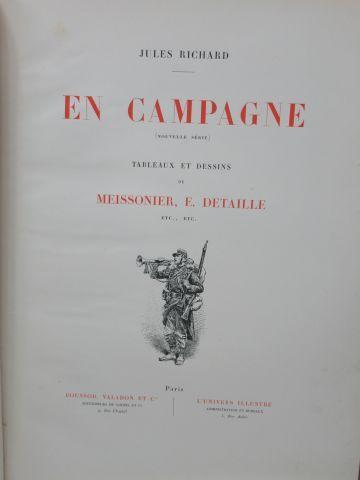 "Jules RICHARD ""En Campagne"" Illustrated after Meissonnier and Detaille. Boussod …"