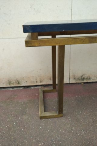 ROMEO (furniture store of the fabourg Saint Antoine) Important brass console, ma…