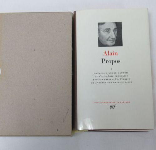 """LA PLEIADE, Alain """"Propos"""" Volume 1, 1956"""