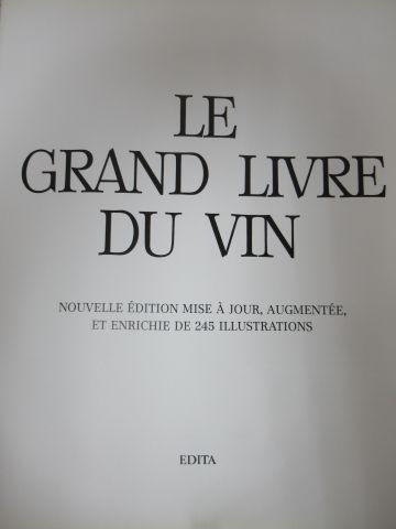 """Set of 2 books : """"Le Nouveau Grand livre du vin"""" """"Le Dictionnaire de la Marine à…"""