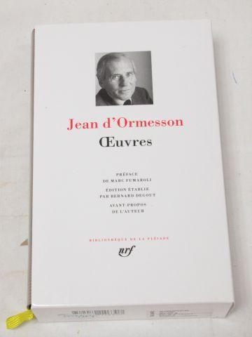 "LA PLEIADE, Jean d'ORMESSON ""Works"" 2015"