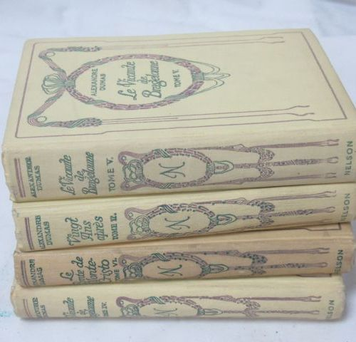 Alexandre DUMAS, set of 4 books from the Nelson collection
