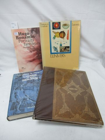 Set of 4 books: Universal Geographic Encyclopedia, The Universe, Man and His Wel…