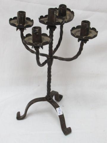 Candélabre en fer forgé. Haut.: 35 cm
