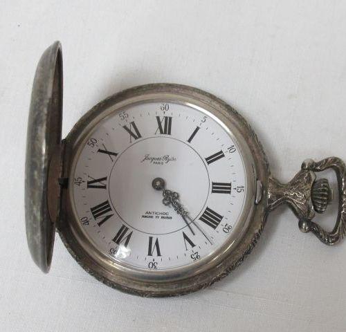 Lot de 4 montres de gousset en métal. Modernes.