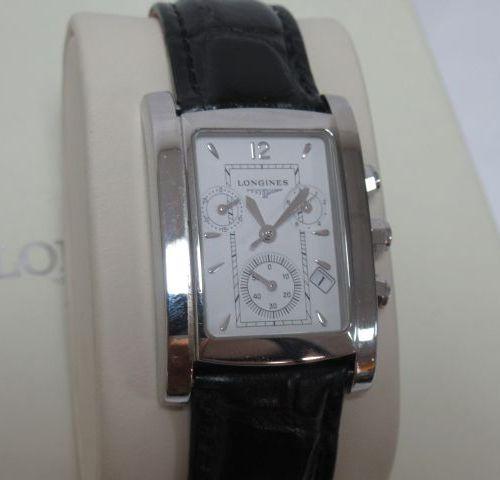 LONGINES Montre chronographe d'homme en acier. Numéro de série 31773400. Taille …