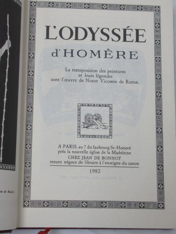 """Jean de BONNOT, Homère """"L'Odyssée"""" 1982 (reliure en très mauvais état)"""
