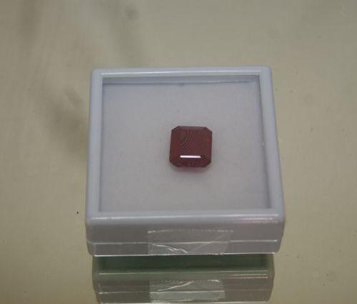 Rubis, taille rectangle, traité, 9,4 carats