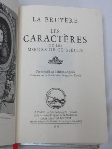 """Jean de BONNOT, LA BRUYERE, """"Les Caractères"""" 1982 (tranche légèrement sale)"""