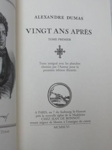 """Jean de BONNOT, DUMAS """"Les Trois mousquetaires"""" """"20 ans après"""" , 4 volumes. 1995…"""