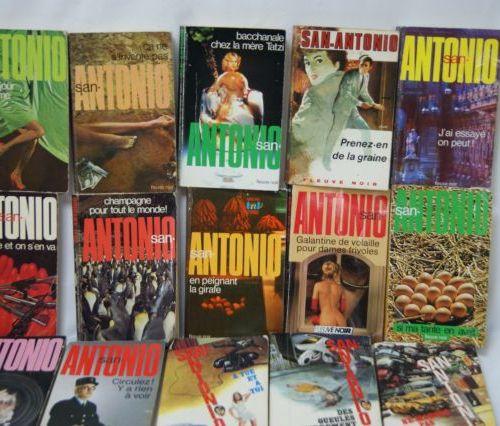 """Lot de livres """"San Antonio"""", éditions Fleuve noir. Circa 1970/80."""