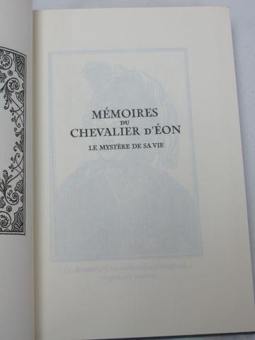 """Jean de BONNOT, """"Les Mémoires du Chevalier d'Eon"""" 1998 BE"""
