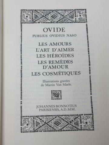 """Jean de BONNOT, Ovide """"Les Amours, l'Art d'Aimer, Les Héroïdes …"""" 2000 (reliure …"""