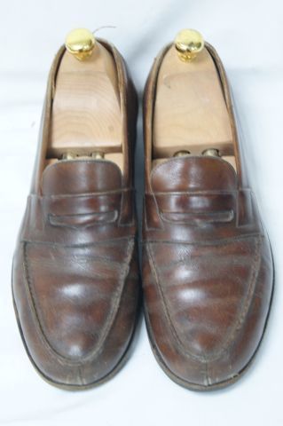 WESTON Paire de chaussures en cuir. Long.: 28 cm (ressemelées) Avec leurs embauc…