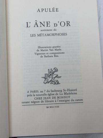 """Jean de BONNOT, APULEE """"L'Ane d'Or"""" 1998 (reliure tachee)"""