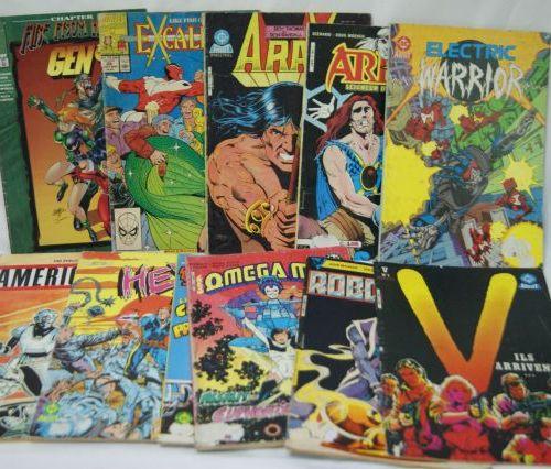 Lot de bandes dessinées souples. Circa 1980 90.