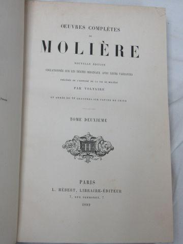 """MOLIERE """"Œuvres complètes"""" HEBERT, 1882. 7 volumes. Illustrés."""