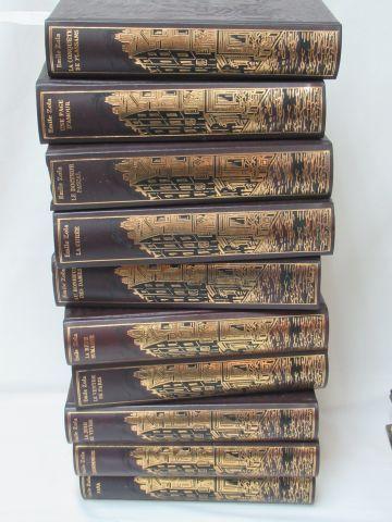"Jean de BONNOT, Emile ZOLA ""Les Rougon Macquart"" 20 volumes. 1983 (traces d'humi…"