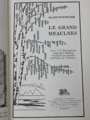 """Jean de BONNOT Alain Fournier """"Le Grand Meaulnes"""" 1997 TBE"""