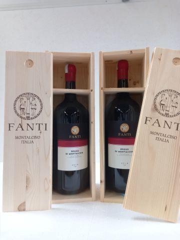2 Magnums (150cl) 2019. Coffret bois. Fanti Rosso Di Montalcino. Grand vin d'Ita…