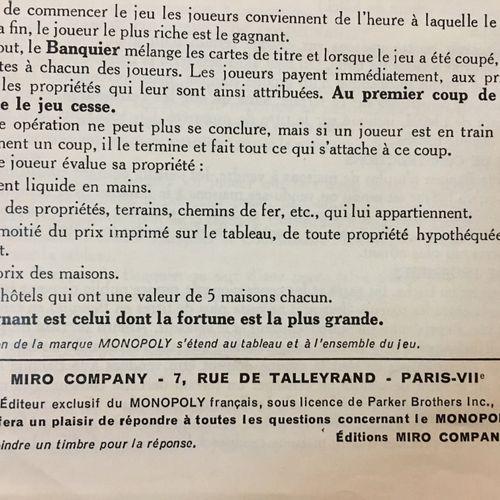 Jeu de Monopoly vintage complet. Editions MIRO COMPANY 1936 (extérieur boite un …