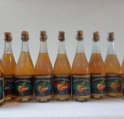 9 bouteilles de Cidre méthode Champennoise. La fleur de Normandie. 75cl. 4%vol