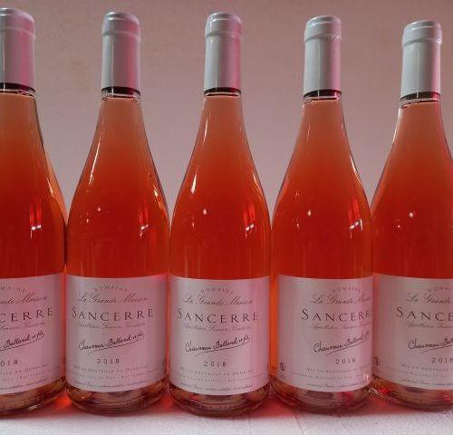 5 bouteilles de Sancerre rosé. 2018. Domaine la Grande Maison. Récoltant Chaumea…