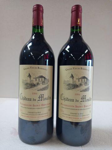 2 Magnums (150cl) Château du Moulin. 1994. Puisseguin St Emilion. Vignobles Chan…