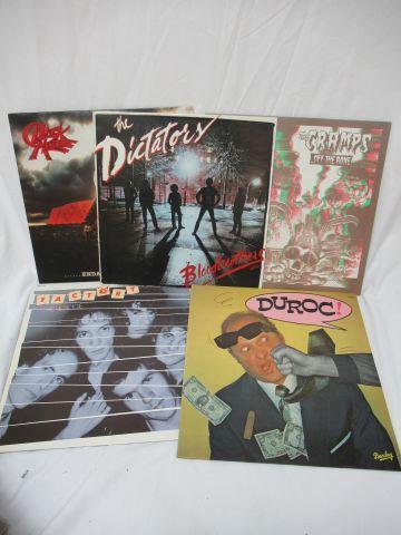 Lot de 5 vinyles 33 tours : The Dictatory, Duroc, Black Alice, The Cramps, Facto…