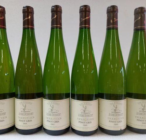 6 bouteilles de Alsace Pinot Gris. 2005. Domaine André Dussourd. La Tradition du…